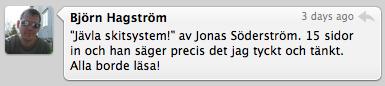 Björn Hagström på twitter