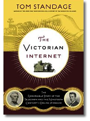 Omslag för The Victorian internet av Tom Standage