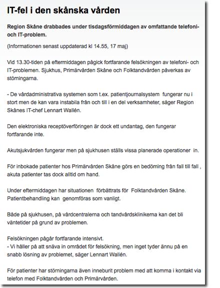 Region Skånes IT-haver klockan 14