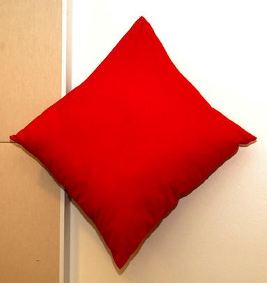 liten röd kudde