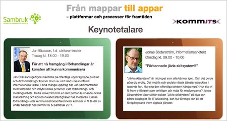 keynotetalare vid kommit 2011