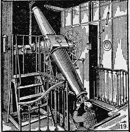 Gammal bild av astronom som studerar stjärnhimlen med sitt teleskop