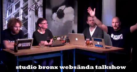 förra veckans talkshow i studio bronx