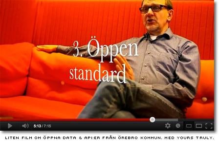 Liten introduktionsfilm om öppna data och API:er, producerad för örebro kommun