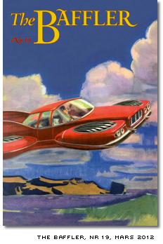 Omslaget till The Baffler nummer 19, mars 2012, visar en teckning av en flygande bil som man tänkte sig den på 50-talet
