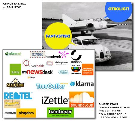 Gamla Sverige och nya - Saab vs digitalt, bild Johan Ronnestam från presentation på webbdagarna 2012