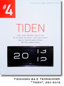 Omslag till tidningen #4s temnummer om tiden, december 2012