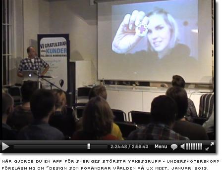 """från föreläsning om """"design som förändrar världen på ux meet, januari 2013"""