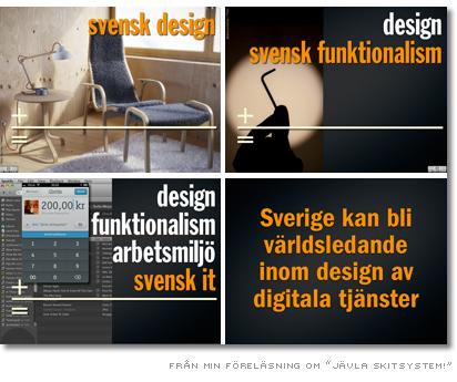 bild från föreläsning - sverige kan bli världsledande inom design av digitala tjänster