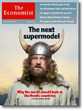 bild av viking på economists omslag, med texten the next supermodel