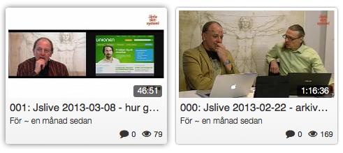 Bilder från webbsändningen Jävla skitsystem Live