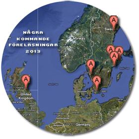 karta över kommande föreläsningar 2013