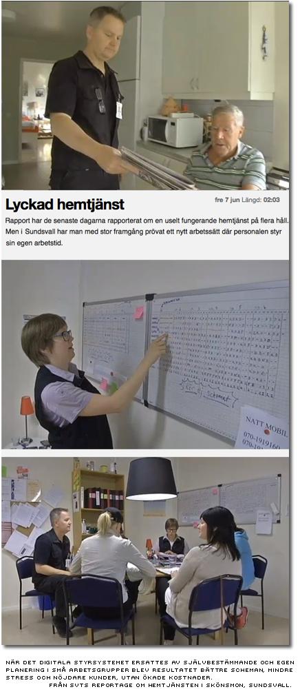 Bättre scheman, mindre stress och nöjdare kunder utan styrsystemet - från SVTs reportage om hemtjänsten i skönsmon, sundsvall