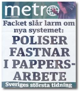 tidningen metros löpsedel 21 aug