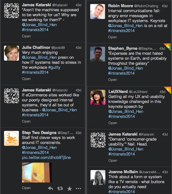 Tweets från publiken i Sydney